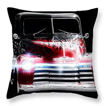 Classic Cars Throw Pillow featuring the photograph 1950's Chevrolet Truck by Aaron Berg