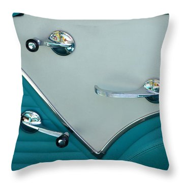 Throw Pillow featuring the photograph 1950's Chevy Interior by Dean Ferreira