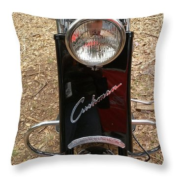 Throw Pillow featuring the photograph 1950's Cushman by Fortunate Findings Shirley Dickerson