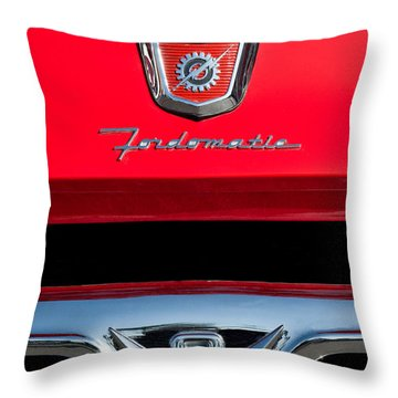 1950's Ford F-100 Pickup Truck Grille Emblems Throw Pillow