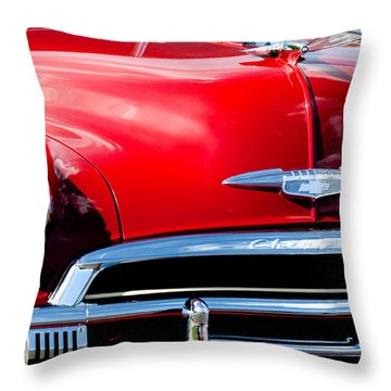 1951 Chevrolet Grille Emblem Throw Pillow by Jill Reger