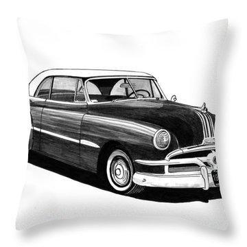 1951 Pontiac Hard Top Throw Pillow by Jack Pumphrey