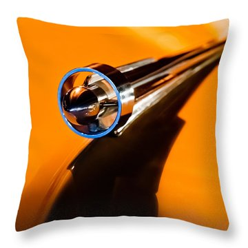 1951 Studebaker Pickup Truck Hood Ornament Throw Pillow by Jill Reger