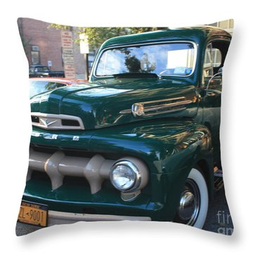 1952  Ford Pick Up Truck Front And Side View Throw Pillow