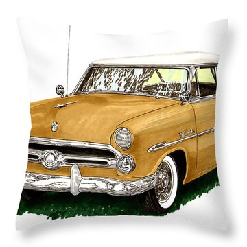 1952 Ford Victoria Throw Pillow by Jack Pumphrey