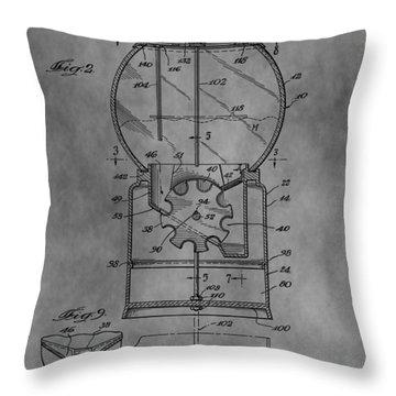 1952 Gumball Machine Patent Throw Pillow