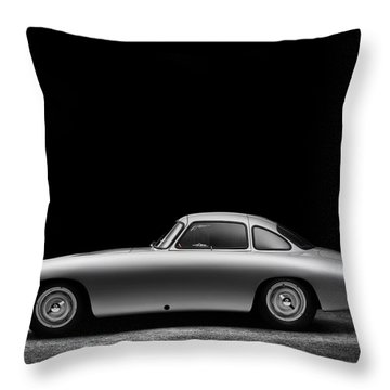 Throw Pillow featuring the photograph 1952 Mercedes 300 Sl  by Gianfranco Weiss