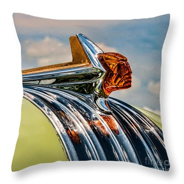 1952 Pontiac Hood Ornament Throw Pillow
