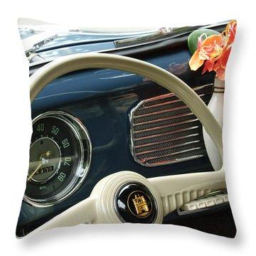 1952 Volkswagen Vw Bug Steering Wheel Throw Pillow