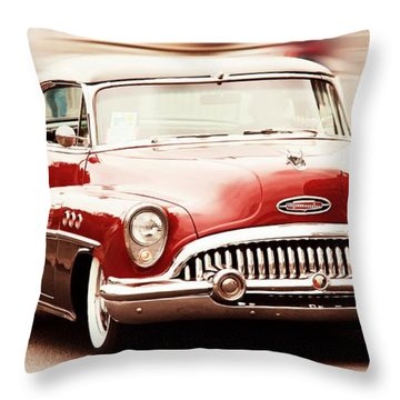 Old Car Throw Pillow featuring the photograph 1953 Buick Super by Aaron Berg