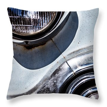 1953 Chevy Headlight Detail Throw Pillow