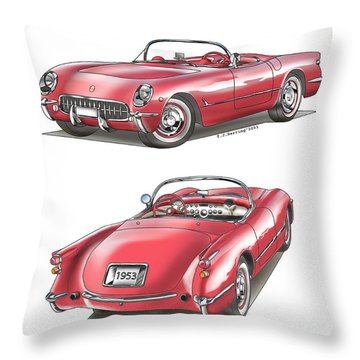 1953 Corvette Throw Pillow