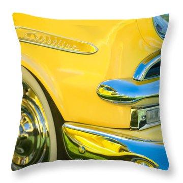 1953 Ford Crestline Convertible Emblem Throw Pillow by Jill Reger