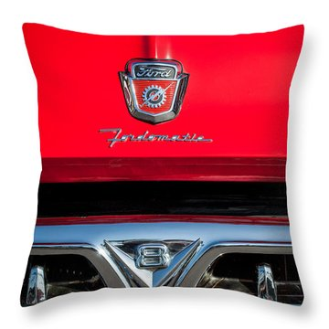1953 Ford F-100 Fordomatic Pickup Truck Grille Emblems -0108c Throw Pillow