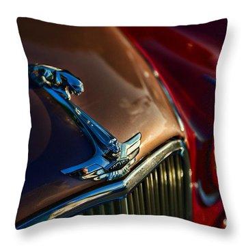 1953 Jaguar Mk7 Throw Pillow by Paul Ward