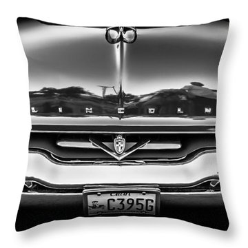 1953 Lincoln - Capri Throw Pillow by Steven Milner