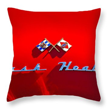 1953 Nash-healey Roadster Emblem Throw Pillow by Jill Reger