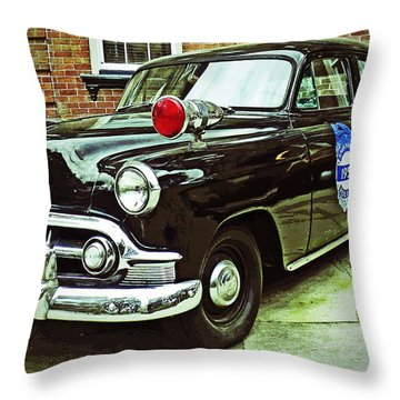 1953 Police Car Throw Pillow