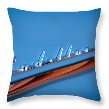 1954 Cadillac Emblem Throw Pillow by Jill Reger