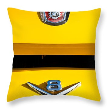 1954 Ford F-100 Custom Pickup Truck Emblems Throw Pillow