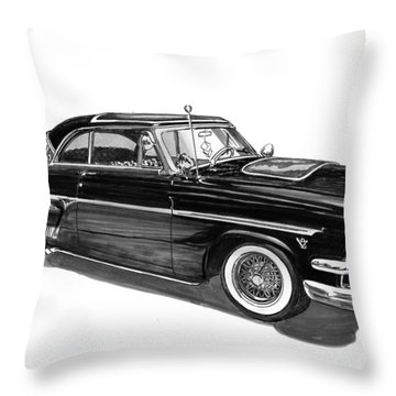 1954 Ford Skyliner Throw Pillow by Jack Pumphrey