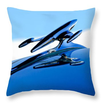 1954 Gmc 100 Pickup Hood Ornament Throw Pillow by Jill Reger