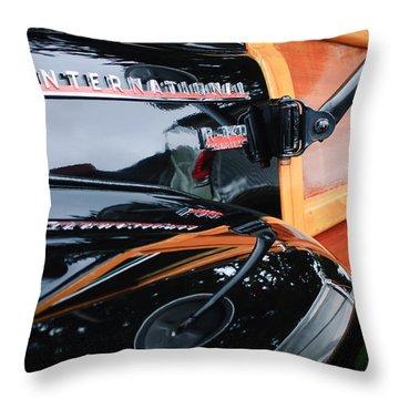 1954 International Harvester R140 Woody Wagon  Throw Pillow by Jill Reger