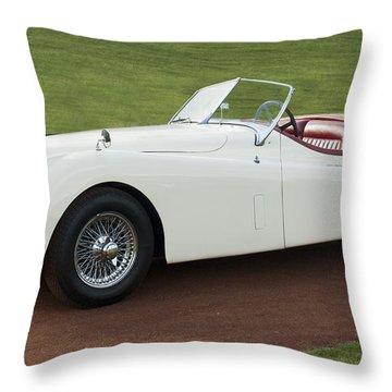 1954 Jaguar Xk120 Roadster  Throw Pillow by Jill Reger