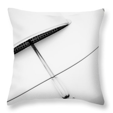 1954 Pegaso Z-102 Saoutchik Coupe Hood Emblem -0583bw Throw Pillow by Jill Reger
