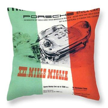 1954 Xxi Mille Miglia Throw Pillow