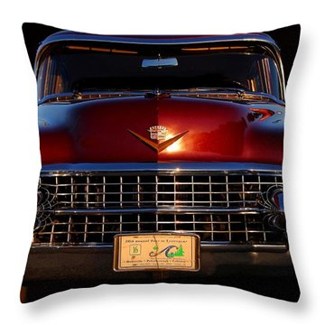 1955 Cadillac Series 62 Throw Pillow by Davandra Cribbie