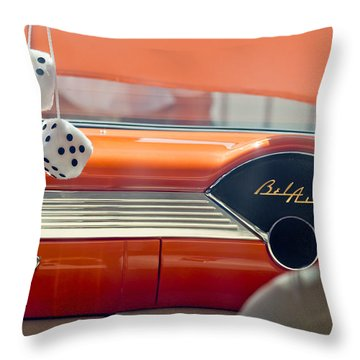 1955 Chevrolet Belair Dashboard Throw Pillow by Jill Reger