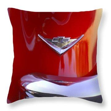 1955 Chevrolet Belair Nomad Emblem Throw Pillow by Jill Reger