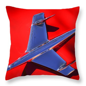 1955 Chevrolet Belair Nomad Hood Ornament -037c Throw Pillow