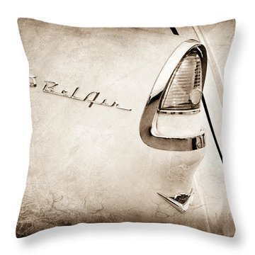 1955 Chevrolet Belair Nomad Taillight Emblem Throw Pillow