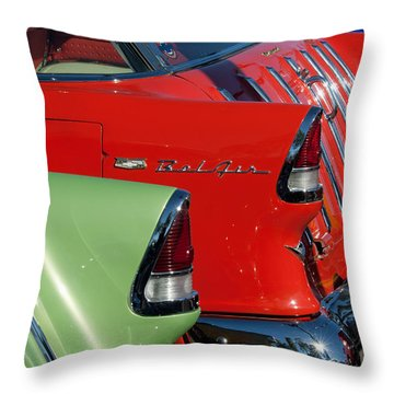 1955 Chevrolet Belair Nomad Taillights Throw Pillow