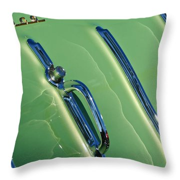 1955 Chevrolet Nomad Belair Tailgate Emblem Throw Pillow