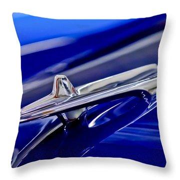 1955 Desoto Hood Ornament 3 Throw Pillow by Jill Reger