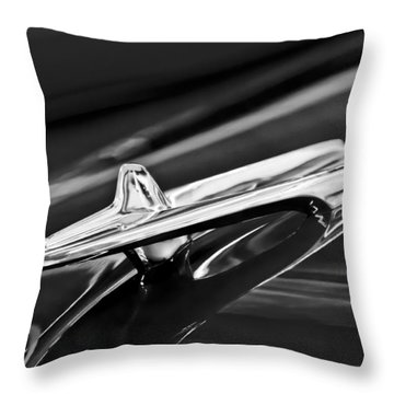 1955 Desoto Hood Ornament 4 Throw Pillow by Jill Reger