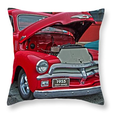 1955 First Series Throw Pillow by Sonya Lang