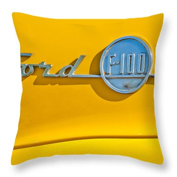 1955 Ford F-100 Pickup Truck -0453c Throw Pillow