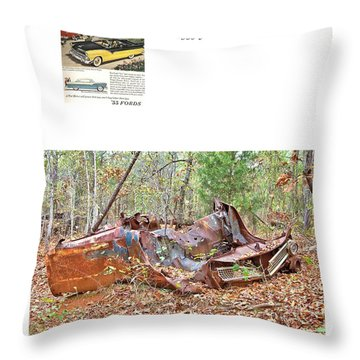 1955 Ford Fairlane Victoria Throw Pillow