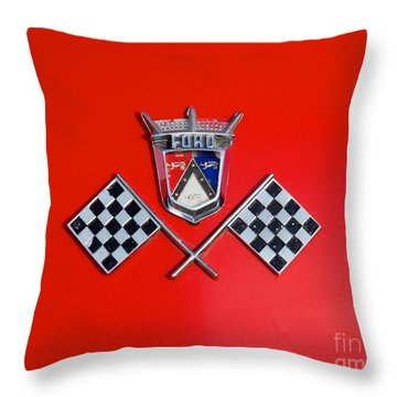 1955 Ford T-bird Logo Throw Pillow