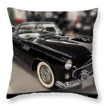1955 Ford Thunderbird Convertible Throw Pillow by Chris Flees