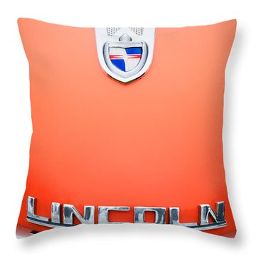 1955 Lincoln Indianapolis Boano Coupe Emblem Throw Pillow by Jill Reger