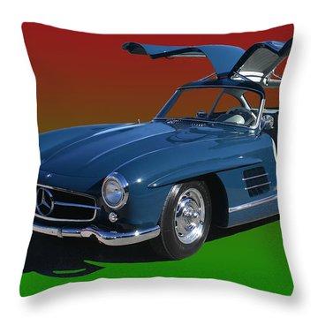 1955 Mercedes Benz 300 S L  Throw Pillow