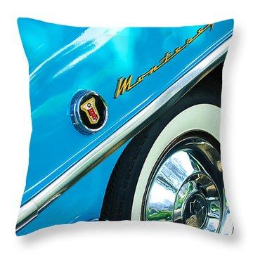 1955 Mercury Monterey Wheel Emblem Throw Pillow by Jill Reger