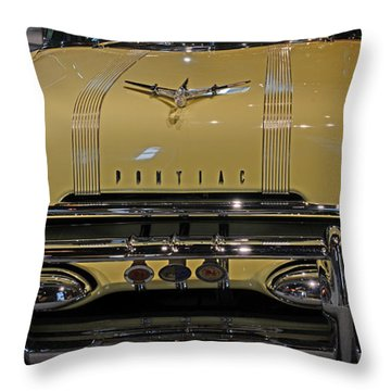 1955 Pontiac Chieftain Front Throw Pillow by Paul Ward