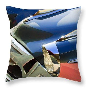 1955 Studebaker President Front End Throw Pillow by Jill Reger