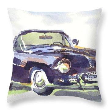 1955 Thunderbird Throw Pillow